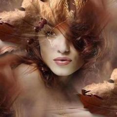 poésie,feu,automne,rousse heure,femme rousse